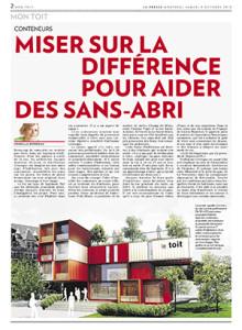 Article dans La Presse