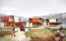 Nouveau projet: habitations collectives et conteneurs maritimes, Pangnirtung, Nunavut